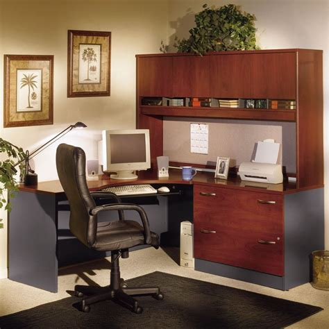 bush corner desk with hutch bush series c corner desk and hutch with lateral file