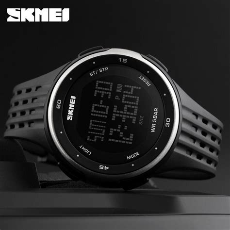 skmei jam tangan digital pria dg1219 black jakartanotebook