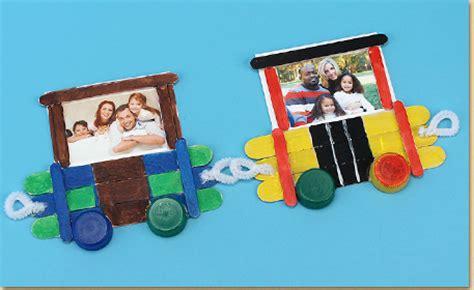 Frame Foto Family Kereta cara membuat figura lucu dari stik es krim energic