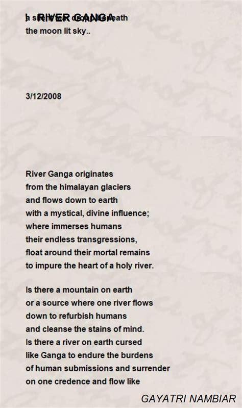 river ganga poem by gayatri nambiar poem hunter