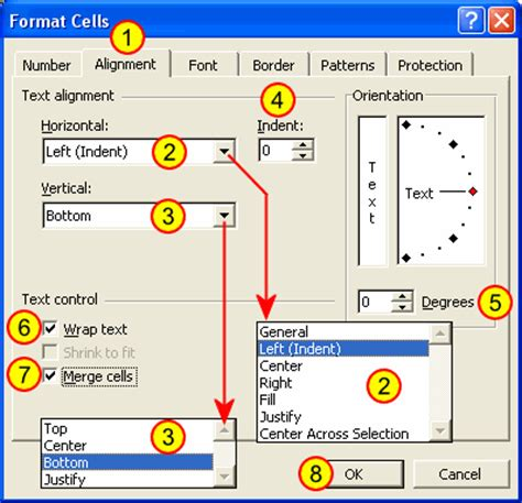 format cell alignment excel 2007 excel guide formatting a worksheet