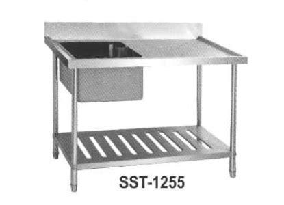 S S Sink Table Meja Cuci Piring St 1255 jual meja wastafel 1 bak dengan tatakan ukuran kecil stainless steel sink table sst 1255