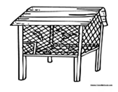 coloring page chicken coop chicken coloring pages