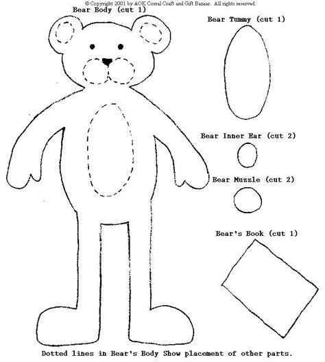 best photos of bear cut out pattern teddy bear cut out