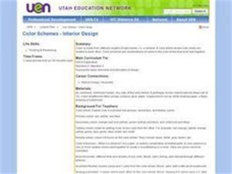 interior design lesson plans color schemes interior design 11th higher ed lesson plan lesson planet