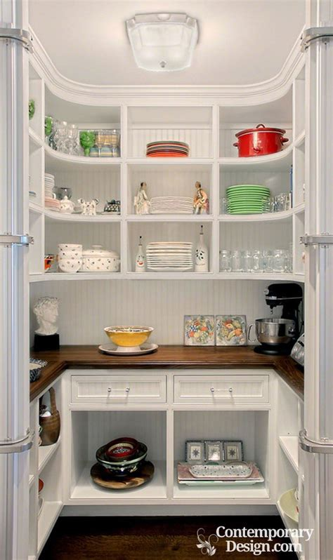 Walk In Cabinet Design by Small Walk In Pantry Designs