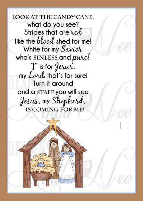 printable christmas cards nativity legend of the candy cane nativity card for witnessing at