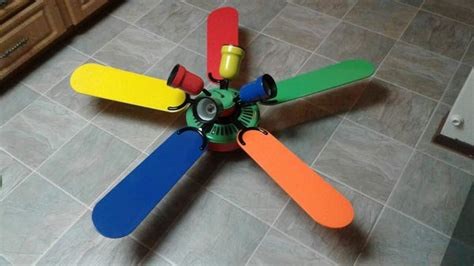primary color ceiling fan hton bay 5 blade 52 quot inch ceiling fan primary colors