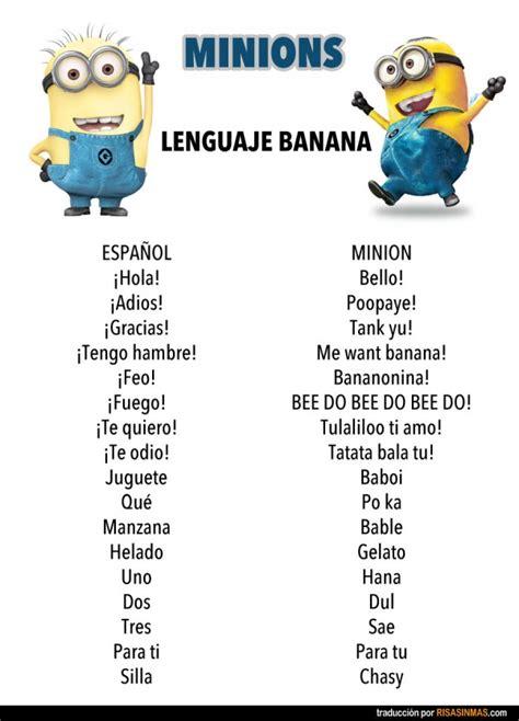 imagenes de los minions q digan hola lenguaje banana de los minions
