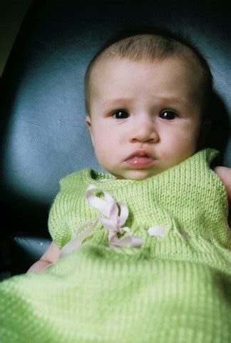 baby knits for beginners by debbie bliss flippy the squirrel dress with eyelets