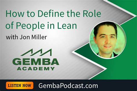 Mba Roles At Apple by Ga 207 How To Define The Of In Lean With Jon