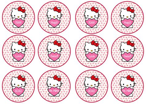 hello kitty cupcake topper template gallery templates