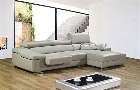 modern gray sectional full leather modern sectional sofa a567 grey