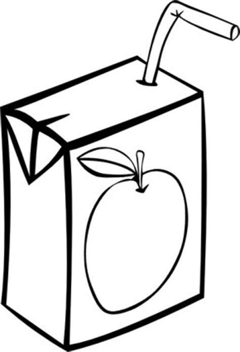 Apple Juice Box B Et W Clip Art-vector Clipart-vecteur