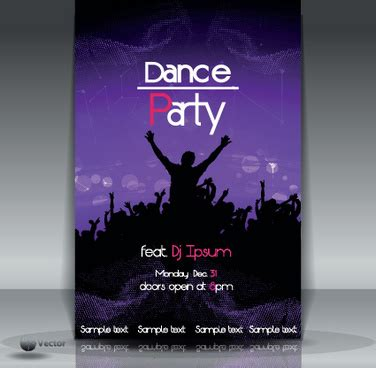 template flyer disco party dance party flyer template free vector download 15 137