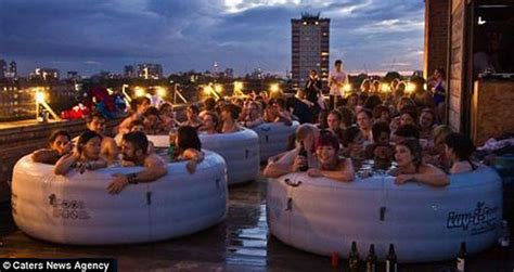themes for hot tub parties inflatable hot tub party
