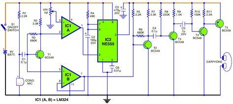 digital hearing aid circuit diagram ultrasonic distance detector sonar ranging system