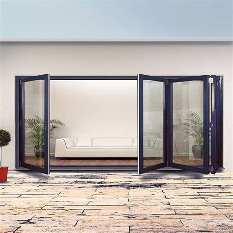 Folding Steel Doors by Dale High Performance 413 Style Brio Bifold 4 Door Frame
