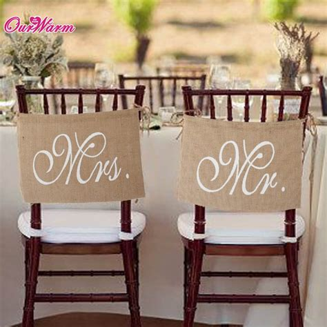 Wedding Banner Mr And Mrs by Rustic Wedding Banners Signs Mr And Mrs Chair Sign Vintage