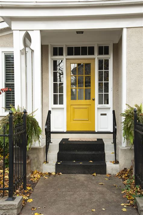 Vibrant Yellow Paint Ideas For Front Doors Yellow Front Door Feng Shui
