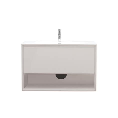 39 bathroom vanity 39 inch single sink bathroom vanity in glossy white