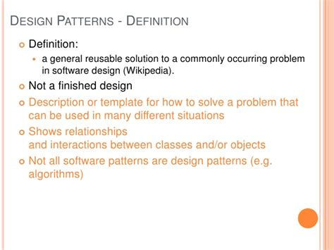 software design pattern definition design patterns 01 introduction and decorator pattern