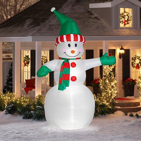 walmart christmas yard decorations 12 airblown snowman christma walmart
