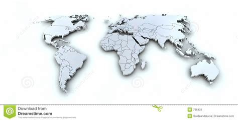 3d earth map earth map 3d stock image image 796431
