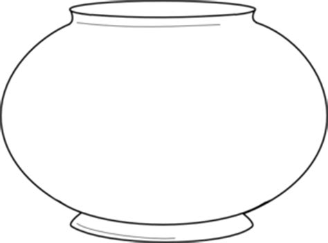free printable fish bowl template simple fishbowl outline clip at clker vector
