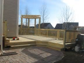 decks and patio deck and patio combination is a great solution for