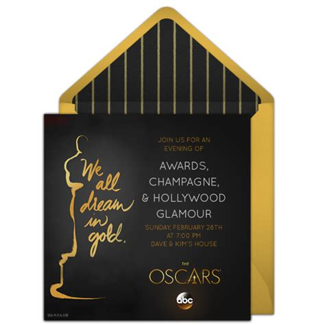 academy awards invitation template free oscars invitations for the 2017 academy awards