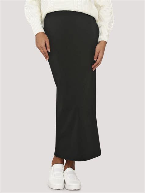 buy koovs maxi pencil skirt for s black