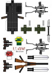 Papercraft Guns - resident evil weapons by e 419 on deviantart