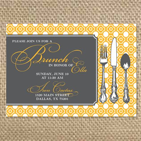 birthday brunch invitation wording brunch invitations template best template collection