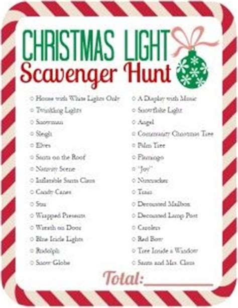 printable christmas light scavenger hunt 133 curated printables ideas by christine4133 scavenger