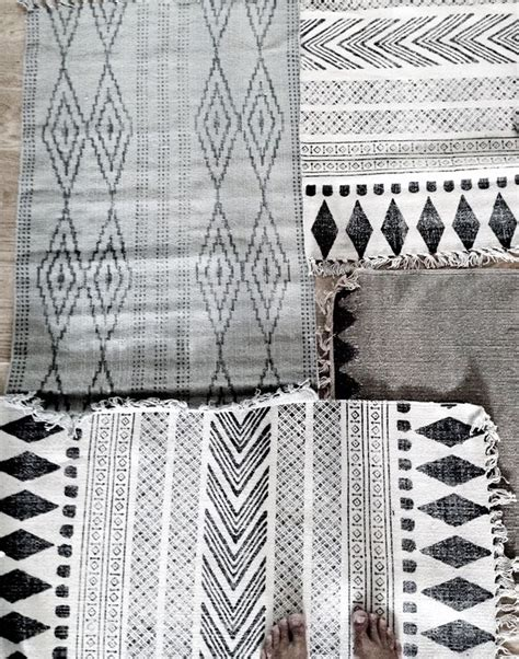 Black And White Tribal Rug by Stil Inspiration House Doctor Collage Of Rugs Interior