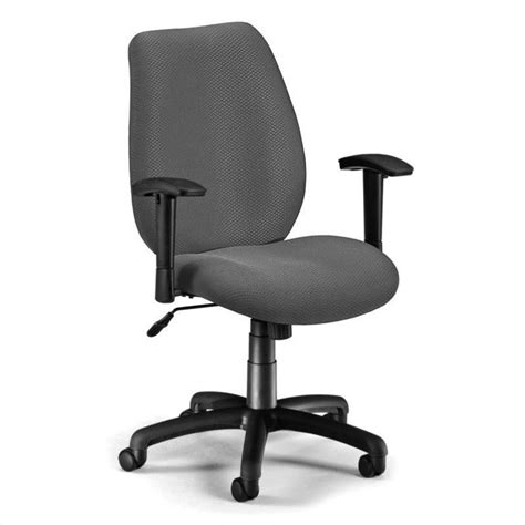 Office Chairs With Adjustable Arms Ofm Ergonomic Manager S Office Chair With Adjustable Arms