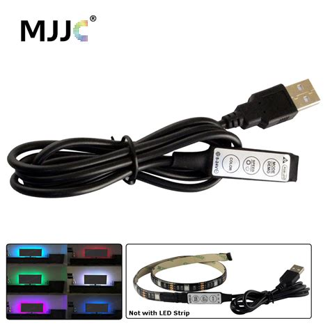 Lu Usb Mini Led usb rgb led controller 5v dc mini 3 with 1m usb cable for 5v rgb led light 4 pin led
