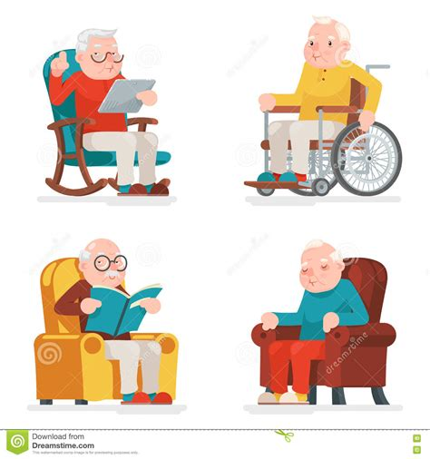 Armchairs For The Elderly Geriatric Cartoons Illustrations Amp Vector Stock Images