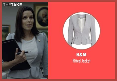 neve cbell leann harvey leann harvey s gray h m fitted jacket from house of cards