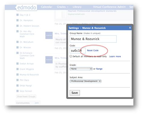 edmodo class code quick tip managing changes to your groups