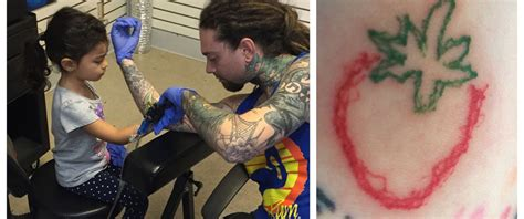 see the tattoo a 4 year old gave her tattoo artist