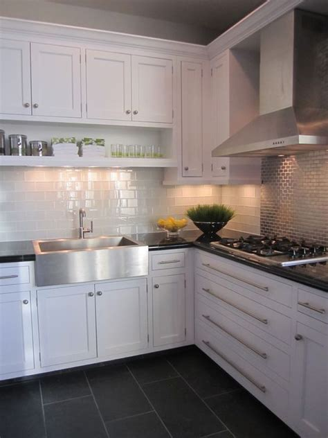 Tile Cabinets Or Around by Kitchen White Cabinet Grey Floor Tiles Stuff