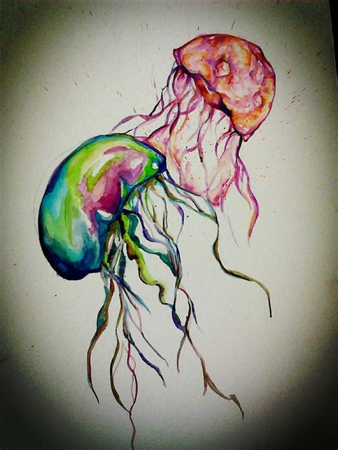 watercolor tattoos jellyfish oooooo watercolor jelly beautiful