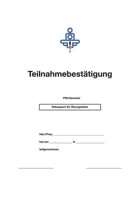 Antrag Höhergruppierung Vorlage Muster Teilnahmebest 228 Tigung Rehasport F 252 R 220 Bungsleiter Pdf Convictorius