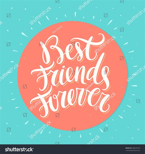 best image best friends forever bff lettering stock vector