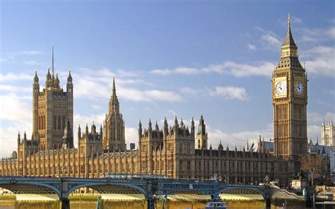 Big Ben, London, UK, Panorama at dailight