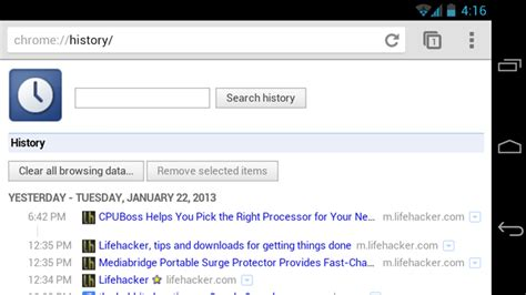 chrome history android from the tips box toiletry chrome history finicky neckties lifehacker australia
