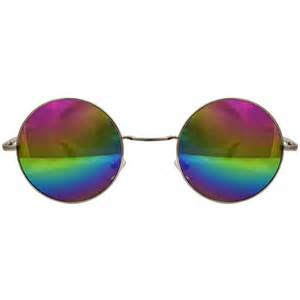 what does colored glasses peace sunglasses rainbow lenses silver frame