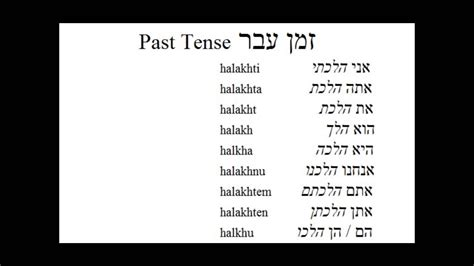past tense present tense future tense chart dog pattern hebrew verbs to go present past and future youtube
